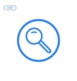 flat bold line magnifier vector image