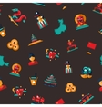 Flat design China travel icons pattern - Chinese vector image