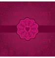 Floral Background with Vintage LabelGorgeous vector image vector image