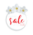 flower banner with text summer sale on white vector image vector image
