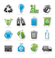 Garbage and Recycling Icons vector image vector image