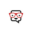 geek chat logo icon design vector image