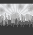gray city comic concept vector image