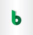 green ribbon letter b symbol logo vector image