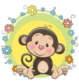 Greeting card cute Monkey vector image vector image