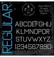 handmade retro font sans serif vector image