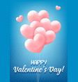 happy valentines day blue congratulation banner vector image