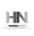 hn h n lines letter design with creative elegant vector image vector image