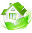 house green leaves abstract vector image vector image