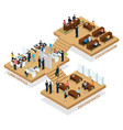 isometric advocacy concept vector image vector image