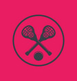 lacrosse icon in circle vector image vector image