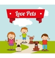 love pets vector image vector image