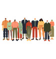 multi ethnic people group persons in casual vector image vector image