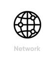 network icon editable stroke vector image