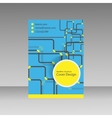 Pipe template brochure vector image