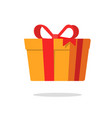 present box or gift paper pack icon flat vector image