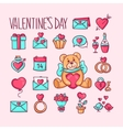 Print icons loves vector image
