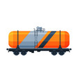 railway cistern freight train side view vector image vector image