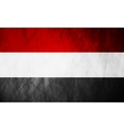 Republic of Yemen grunge flag vector image vector image