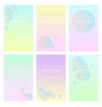 screen gradient set with modern abstract backgroun vector image vector image