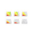 segmental color indicator vector image vector image