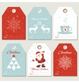 Set Christmas gift tags in retro style vector image vector image