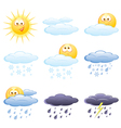 set of the weather icons vector image