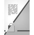 shopping bag symbol dark infographics vector image vector image