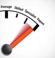 Skill level speedometer vector image vector image