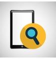 smartphone black search graphic vector image vector image