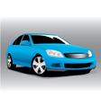 sports blue car vector image vector image