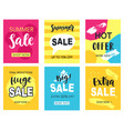 summer sale mobile banners template set vector image vector image