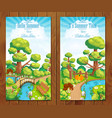 Summer vacation landscapes vertical banner vector image vector image