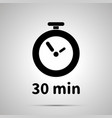thirty minutes timer simple black icon vector image