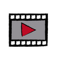 video play button movie digital concept vector image