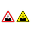 Warning sign of attention to spy Hazard yellow vector image vector image