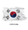 watercolor painting flag of south korea vector image vector image