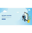 website design landing page ui for a man people vector image