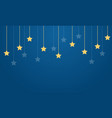 yellow star on blue background collection vector image