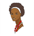 African girl vector image