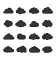 cloud black icon set vector image