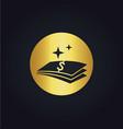 money dollar icon gold logo vector image