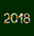 2018 flower numbers vector image vector image