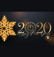 2020 happy new year background with gold vector image