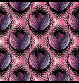 abstract modern floral seamless pattern black vector image