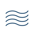 abstract wiggly icon wind water waves or vector image