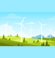 alternative energy resource vector image vector image