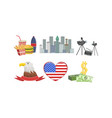 american national symbols and attractions vector image