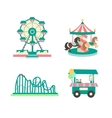 Amusement Park Color Sings Set vector image vector image
