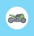 bike icon sign symbol vector image vector image